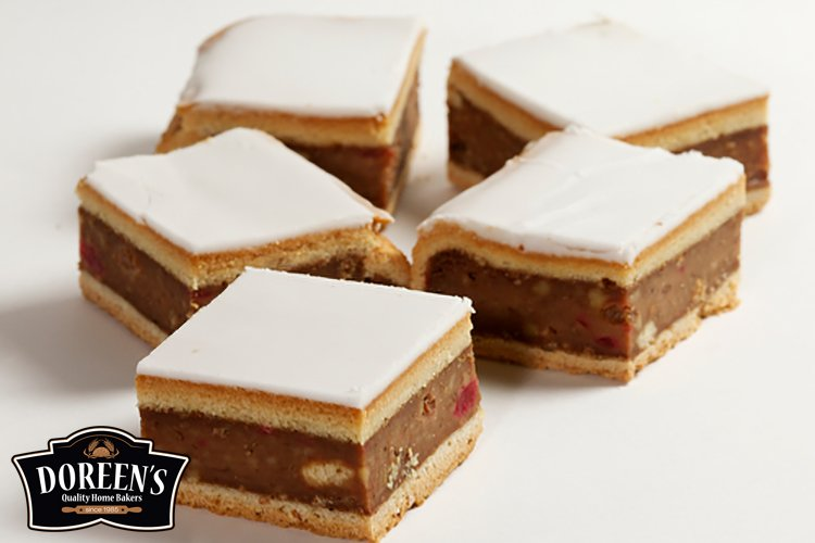 Chester Cake Squares from Doreen's Bakery, Cork