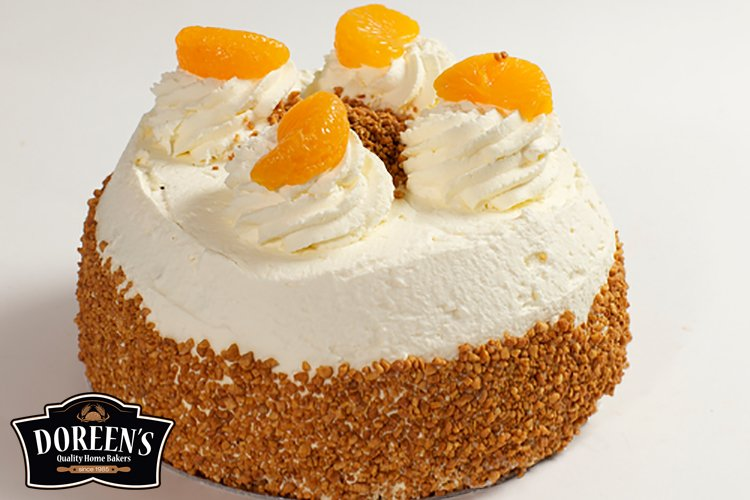 Mandarin Gateaux from Doreen's Bakery, Cork