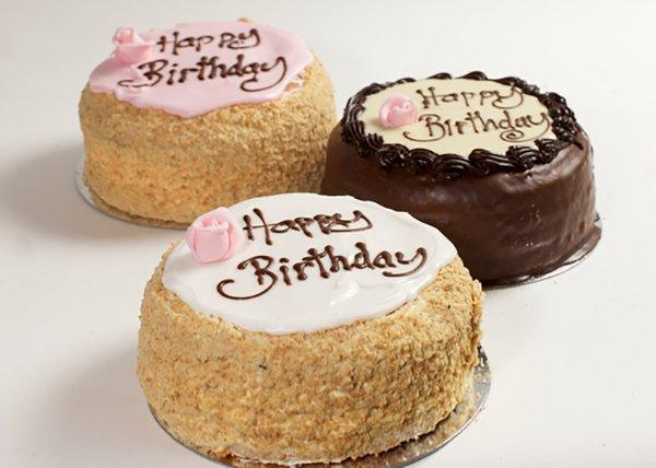 Coffee Madeira Birthday Cake - Doreen's Bakery