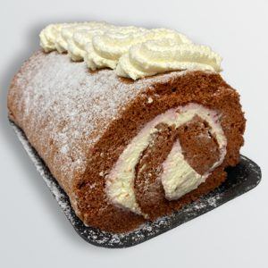 Fresh Cream Chocolate Swiss Roll - Doreen's Bakery