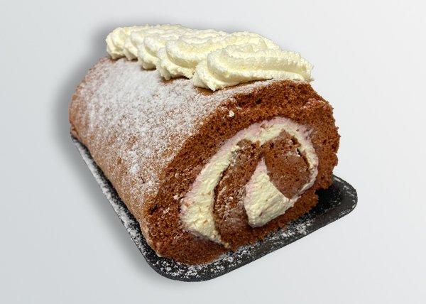 Fresh Cream Chocolate Swiss Roll - Doreen's Bakery
